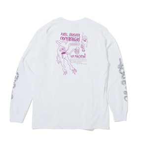 AXEL BOARD SLIDE LONG SLEEVE TEE -WHITE-