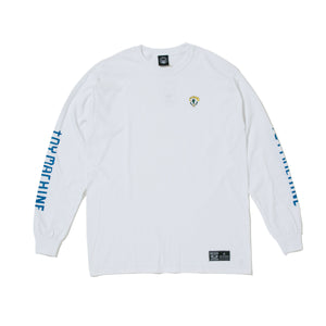 TURTLE BOY EMBRO. LONG SLEEVE TEE - WHITE