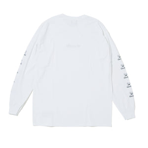 COLLIN TOY NAME  LOGO  LONG SLEEVE TEE - WHITE