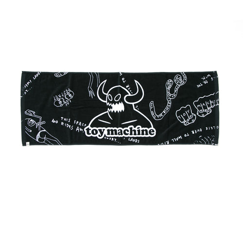 TOYMONSTER PRINT TOWEL - BLACK