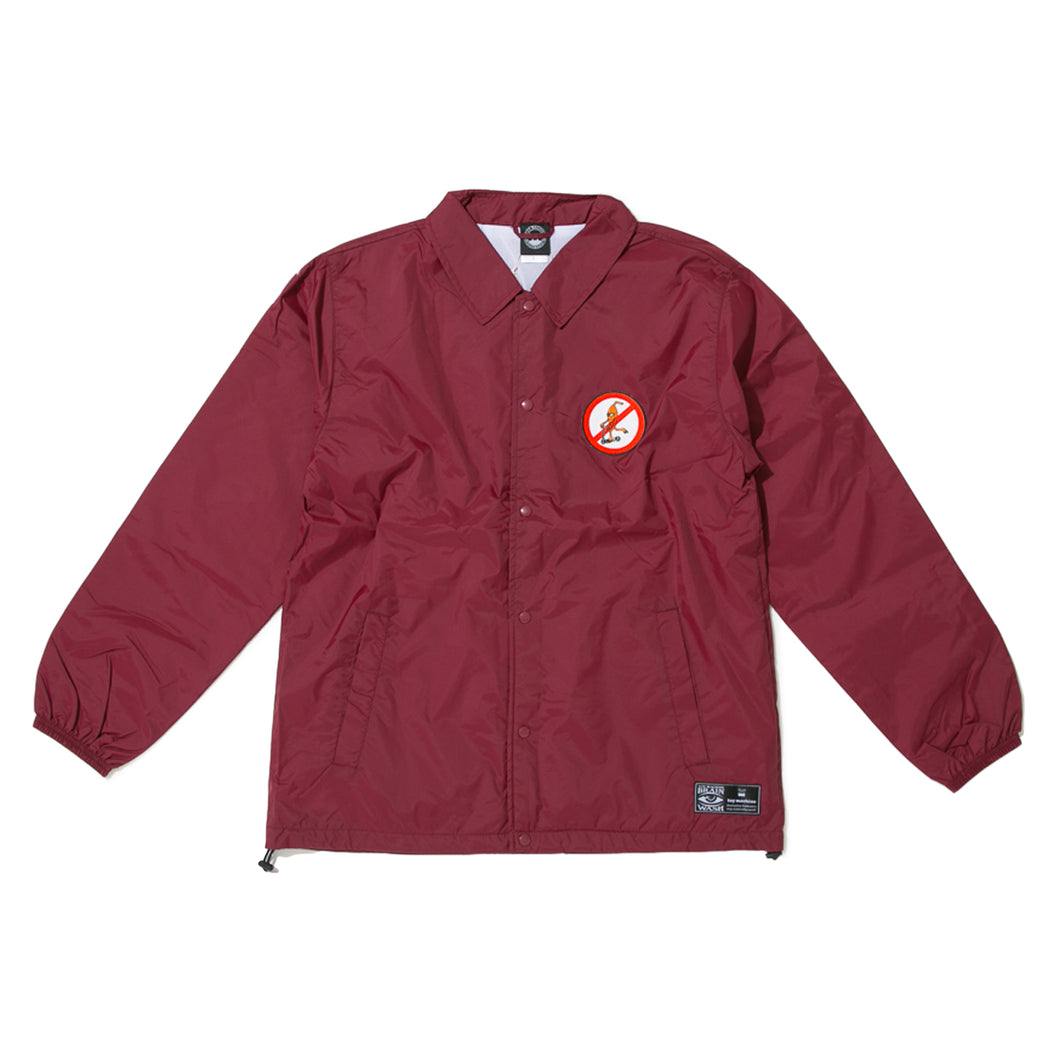 TOYDIVISION  COACH JACKET -BURGANDY-