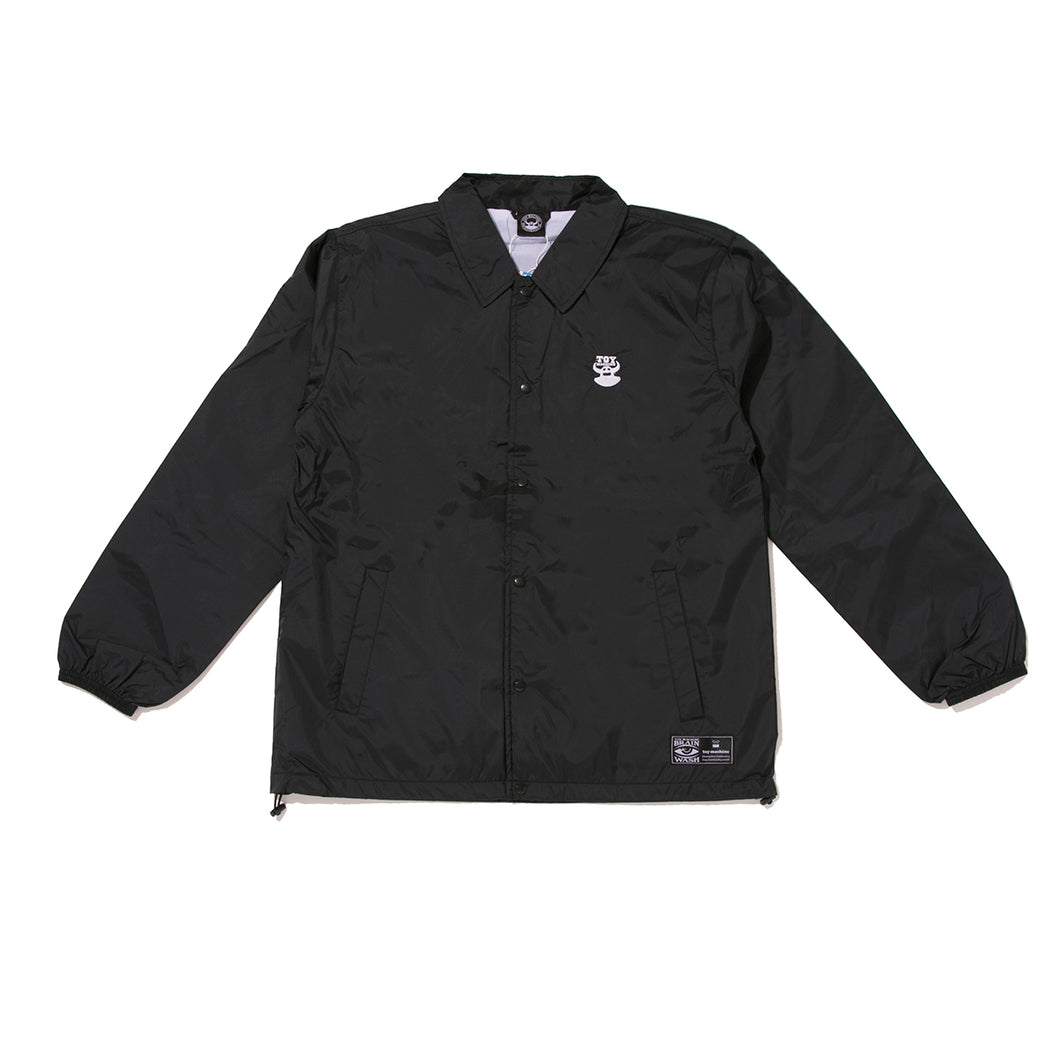 TOYMACH LOGO COACH JACKET -BLACK
