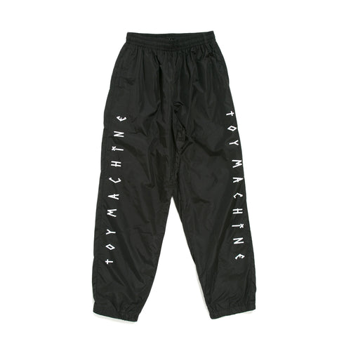 TAPE LOGO WIND PANTS - BLACK