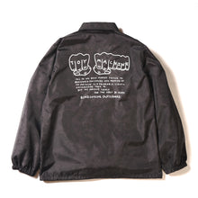 MARBLE PATTERN FIST COACH JACKET - BLACK