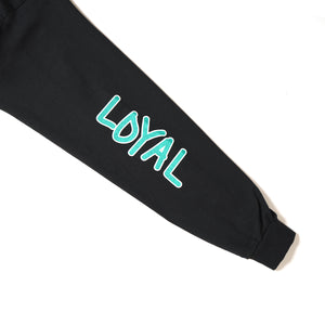 LOYAL PAWNS LONG TEE - BLACK