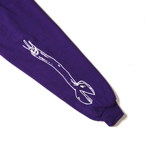 ARM EMBROIDERY LONG TEE - PURPLE