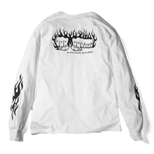 FLAME FIST EMBROIDERY LONG TEE - WHITE