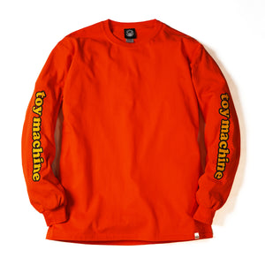 ED MONSTER PRINT LONG TEE - ORANGE