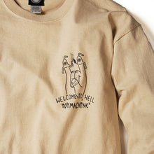 WELCOME TO HELL LONG TEE - BEIGE