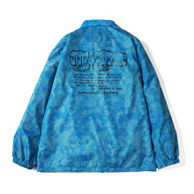 MARBLE PATTERN FIST COACH JACKET - L. BLUE