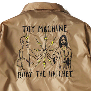 BURY THE HATCHET EMBROIDERY COACH JACKET - KHAKI