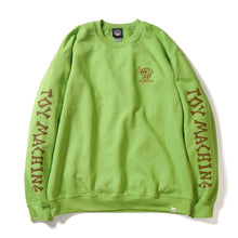 DEAD MONSTER EMBROIDERY SWEAT CREW NECK - L. GREEN