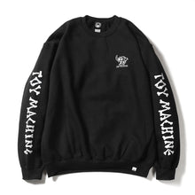 DEAD MONSTER EMBROIDERY SWEAT CREW NECK - BLACK