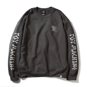 DEAD MONSTER EMBROIDERY SWEAT CREW NECK - CHARCOAL