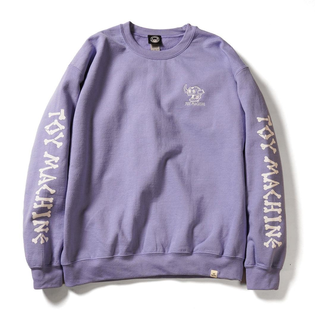 DEAD MONSTER EMBROIDERY SWEAT CREW NECK - VIOLET