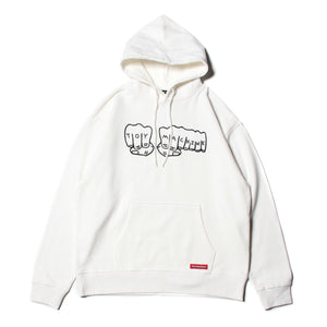 FIST SWEAT PARKA - WHITE