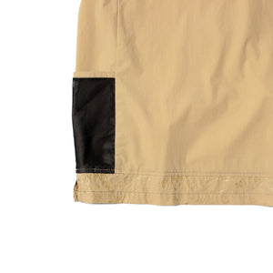 SIDE POCKET CREW NECK SHIRTS - BEIGE