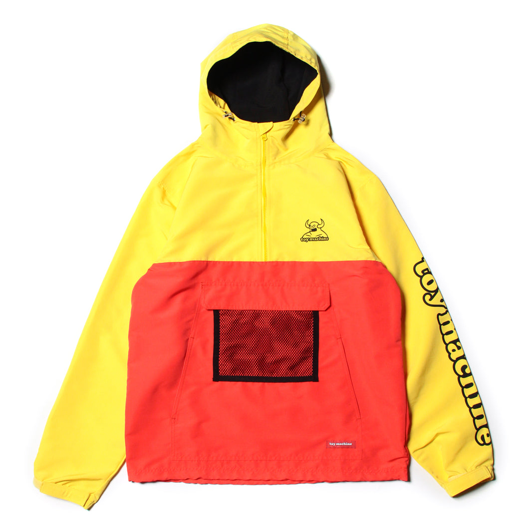 TOYMACHINE LOGO ANORAK JACKET - ORANGE