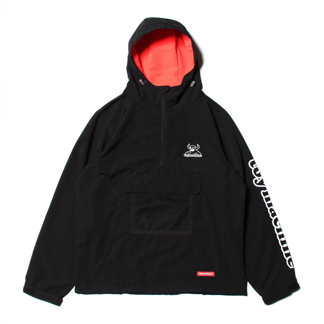 TOYMACHINE LOGO ANORAK JACKET - BLACK