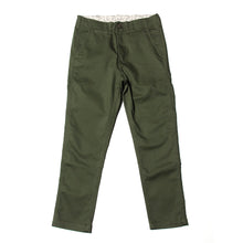SLIM TAPERED PANTS - OLIVE