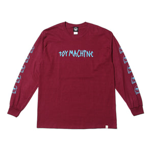 SECT WAX SLEEVE PT LONG TEE - MAROON