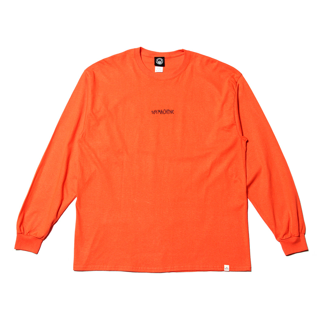 TURTLE HEAD EMBROIDERY LONG TEE - ORANGE