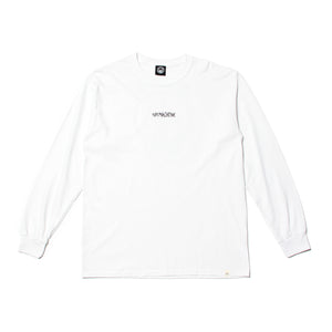 TURTLE HEAD EMBROIDERY LONG TEE - WHITE