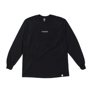 TURTLE HEAD EMBROIDERY LONG TEE - BLACK