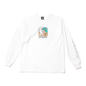 TM SQUARED PRINT LONG TEE - WHITE