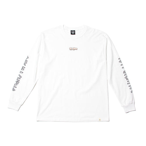 FIST  EMBROIDERY LONG TEE - WHITE