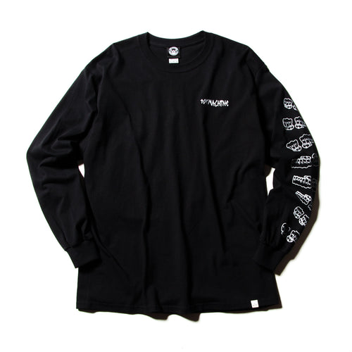 FIST EMBROIDERY LONG TEE - BLACK