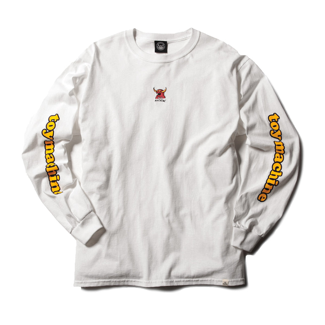 MONSTER MARKED EMBROIDERY LONG TEE - WHITE