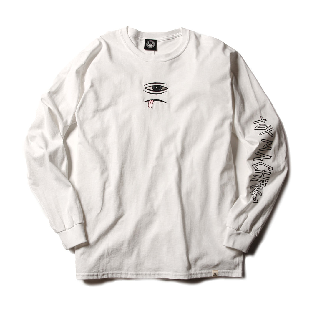 SECT EYE EMBROIDERY LONG TEE - WHITE
