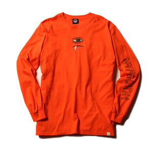 SECT EYE EMBROIDERY LONG TEE - ORANGE