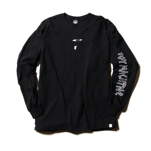 SECT EYE EMBROIDERY LONG TEE - BLACK