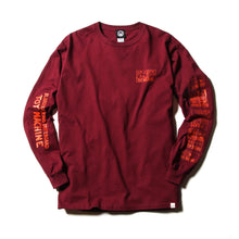 DRUGGED EYES LONG TEE - BURGANDY