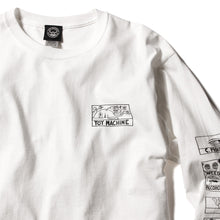DRUGGED EYES LONG TEE - WHITE