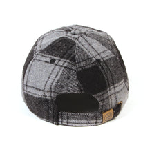 TOYMACH WOOL CHECK CAP - GREY