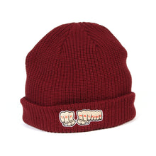 FIST EMBROIDERY BEANIE - BURGANDY