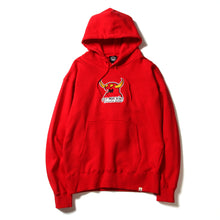 MONSTER MARKED EMBROIDERY SWEAT PARKA - RED