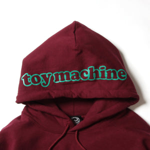 FIST EMBROIDERY SWEAT PARKA - MAROON