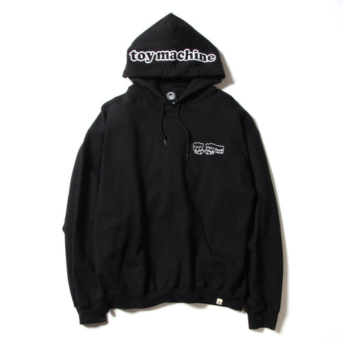 FIST EMBROIDERY SWEAT PARKA - BLACK