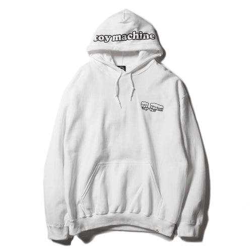 FIST EMBROIDERY SWEAT PARKA - WHITE