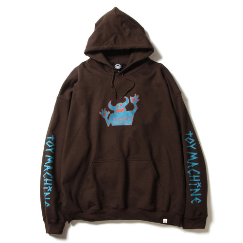 OG MONSTER PRINT SWEAT PARKA - BROWN