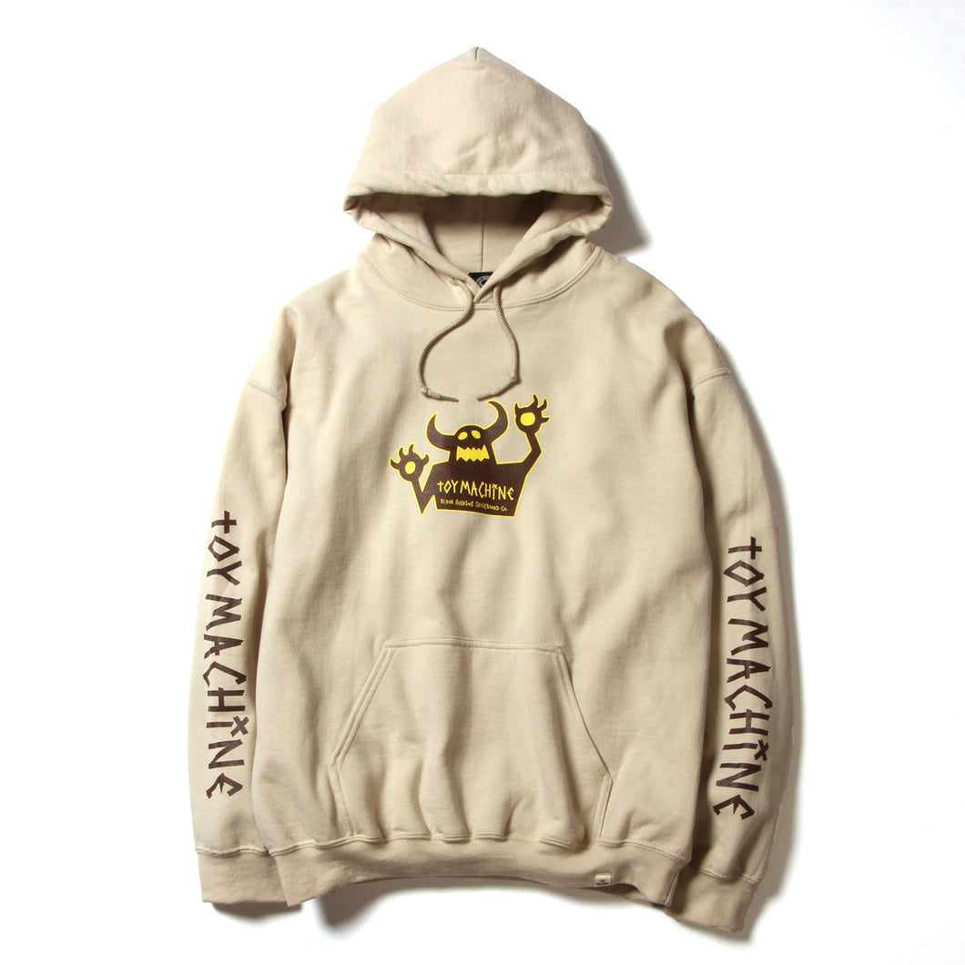 OG MONSTER PRINT SWEAT PARKA - SAND