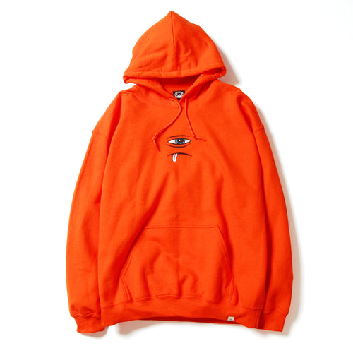SECT EYE EMBROIDERY SWEAT PARKA - ORANGE