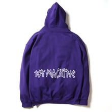 SECT EYE EMBROIDERY SWEAT PARKA - PURPLE