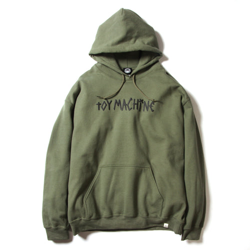 NO SCOOTER PRINT SWEAT PARKA - M. GREEN