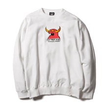 MONSTER MARKED EMBROIDERY SWEAT CREW - WHITE