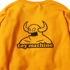 TOYMONSTER EMBROIDERY SWEAT CREW - GOLD